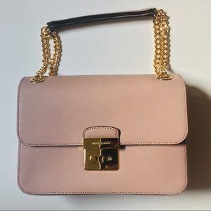 Michael Kors Blush Pink Gold Chain Handbag NWT